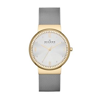 Ancher Women's Crystal Steel Mesh Watch