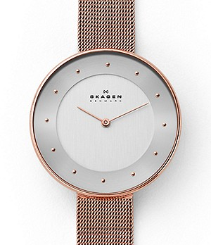 Gitte Rose-Tone Steel-Mesh Watch