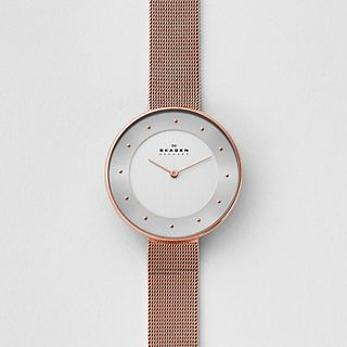 Gitte Rose Gold-Tone Steel-Mesh Watch