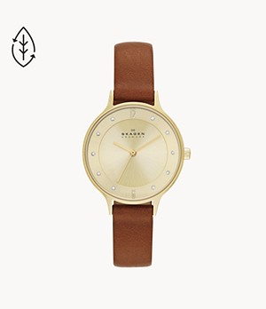 Anita Brown Leather Watch