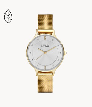 Anita Gold-Tone Steel-Mesh Watch