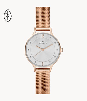 Anita Rose Gold-Tone Steel-Mesh Watch