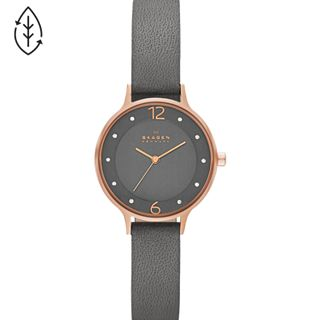 Anita Grey Leather Watch