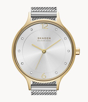 Anita Two-Tone Steel-Mesh Watch