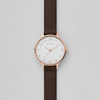 Anita Dark Brown Leather Watch