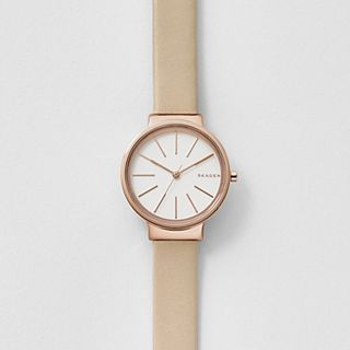 Ancher Beige Leather Watch