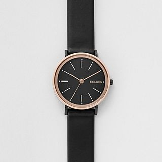 Hald Black Leather Watch