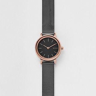 Hald Dark Grey Steel-Mesh Watch