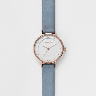 Anita Blue Leather Watch