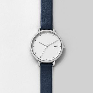 Hagen Blue Leather Watch
