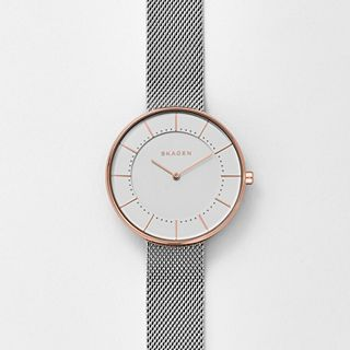 Gitte Two-Tone Steel-Mesh Watch