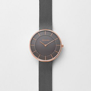 Gitte Grey Steel-Mesh Watch