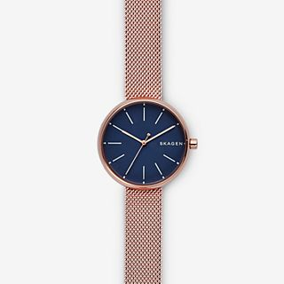 Signatur Rose Gold-Tone Steel-Mesh Watch