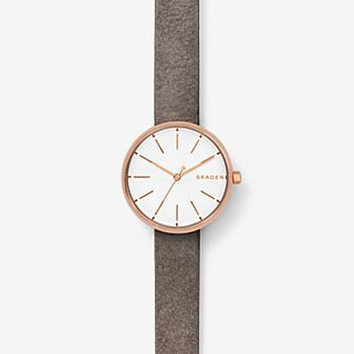 Signatur Gray Leather Watch