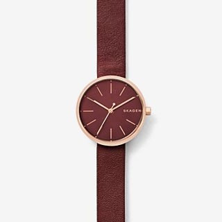 Signatur Maroon Leather Watch