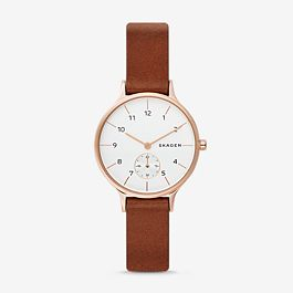 fc4e06db0bd Anita Light Brown Leather Watch - Skagen