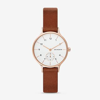 Anita Light Brown Leather Watch