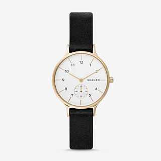 Anita Black Leather Watch