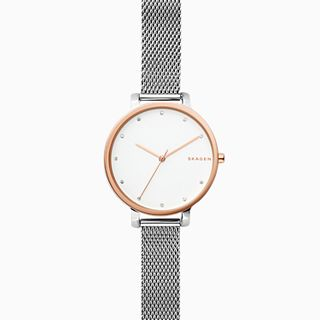 Hagen Two-Tone Steel-Mesh Watch