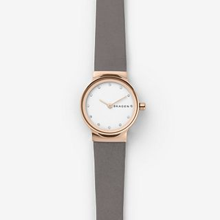 Freja Gray Leather Watch