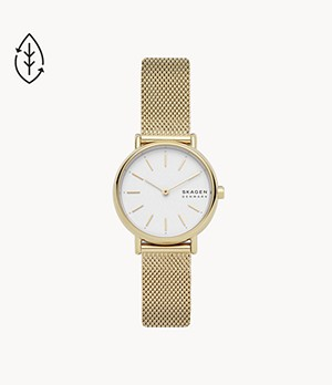 Signatur Slim Gold-Tone Steel-Mesh Watch