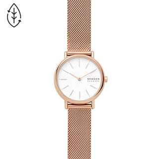 Signatur Slim Rose Gold-Tone Steel-Mesh Watch