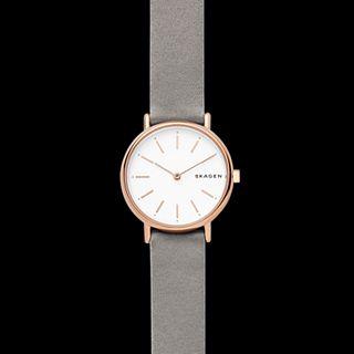Signatur Slim Grey Satin Watch