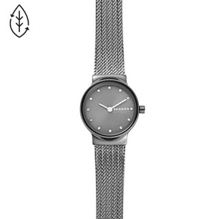 Freja Dark Grey Steel-Mesh Watch