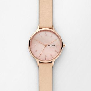 Anita Mother-of-Pearl Nude Leather Watch
