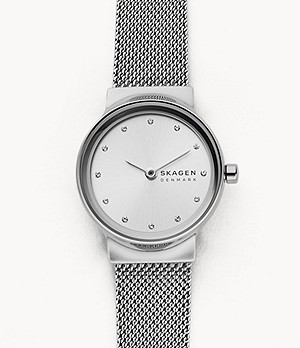 Freja Stainless Steel-Mesh Watch