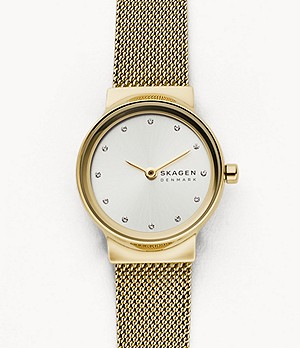 Freja Gold-Tone Steel-Mesh Watch