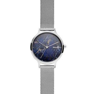 Anita Steel-Mesh Stone Watch