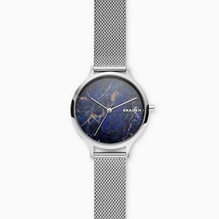 Anita Steel-Mesh Stone Watch