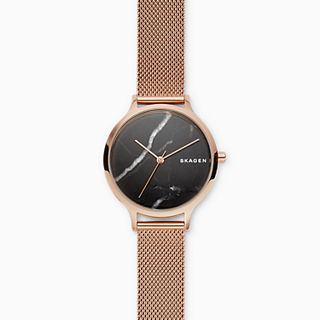 Anita Rose-Tone Steel-Mesh Stone Watch