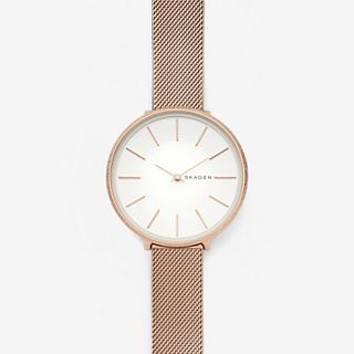 Karolina Rose-Tone Silk-Mesh Watch