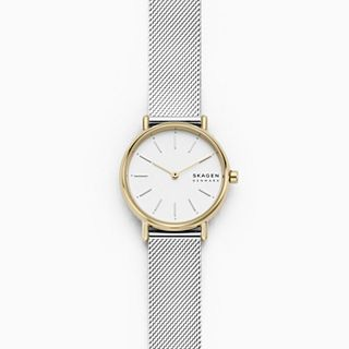 Signatur Slim Two-Tone Silk-Mesh Watch