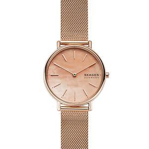 Signatur Slim Rose-Tone Steel-Mesh Watch
