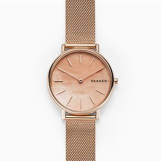 Signatur Slim Rose-Tone Steel-Mesh Watch