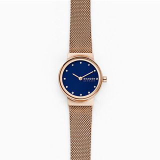 Freja Rose-Tone Steel-Mesh Watch