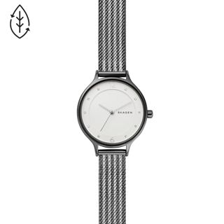 Anita Two-Tone Ripple-Mesh Watch
