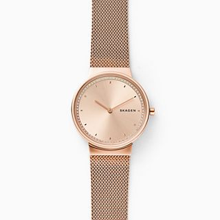 Annelie Rose-Tone Steel-Mesh Watch