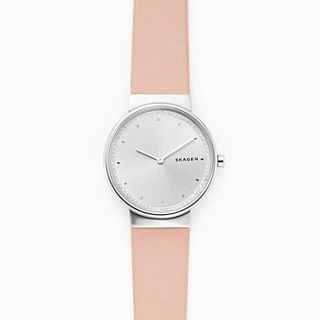 Annelie Pink Leather Watch