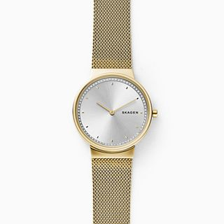 Annelie Gold-Tone Steel-Mesh Watch
