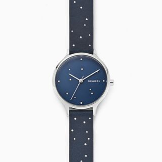 Anita Blue Leather Constellation Watch