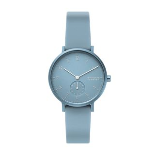 Aaren Kulør Light Blue Silicone 36mm Watch