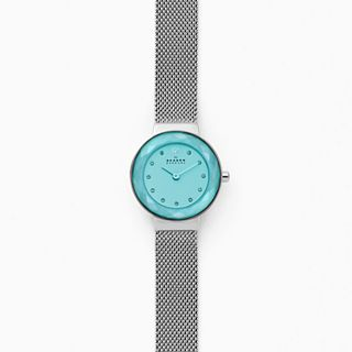 Lenora Steel-Mesh Watch