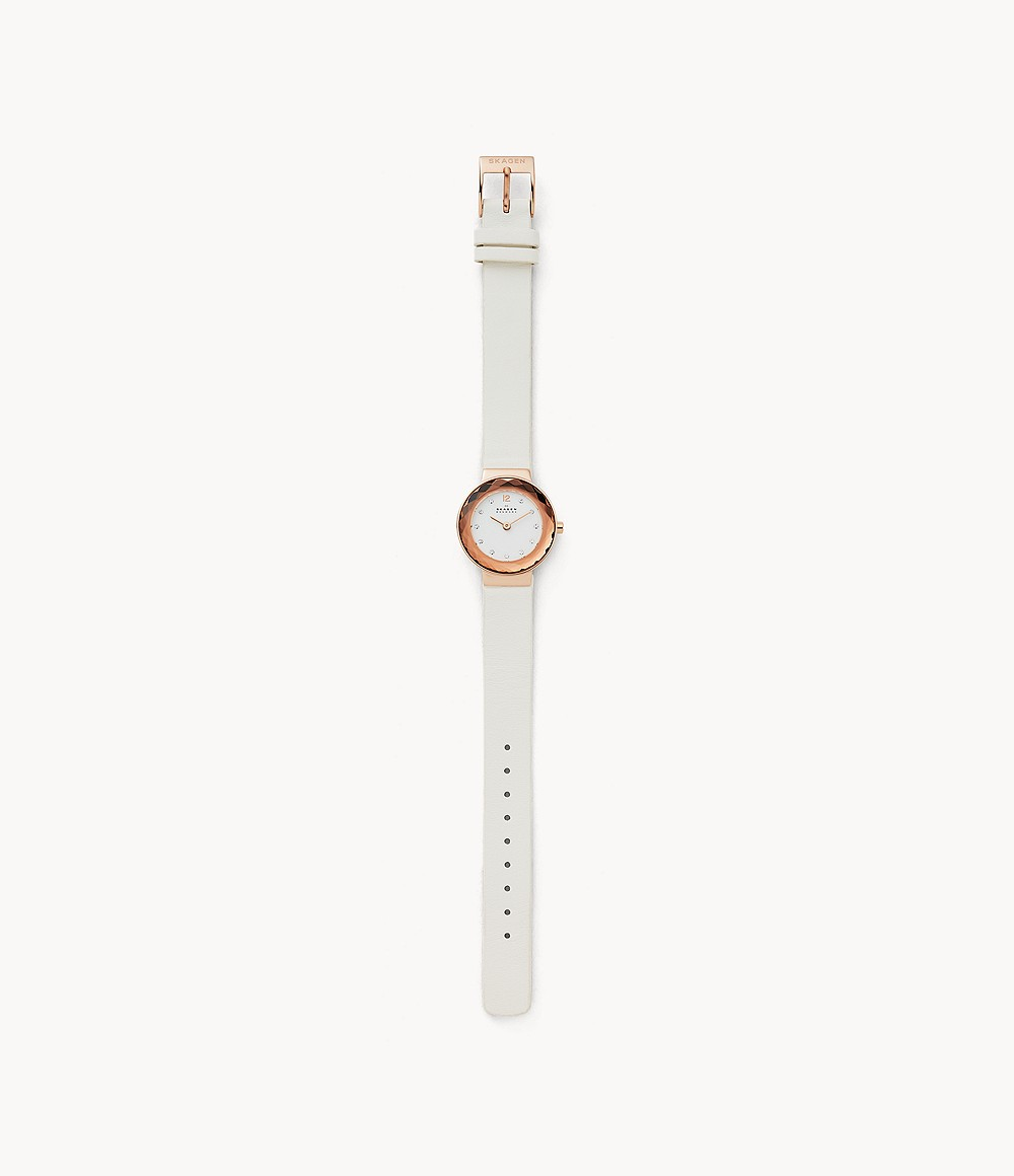 Leonora White Leather Watch - SKW2769 - Watch Station