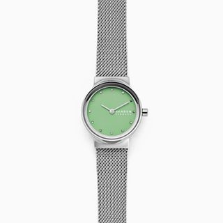 Freja Silver-Tone Steel-Mesh Watch