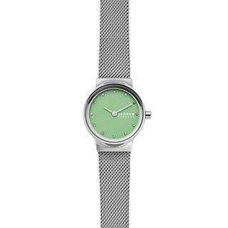 Freja Silver-Tone Steel-Mesh Watch