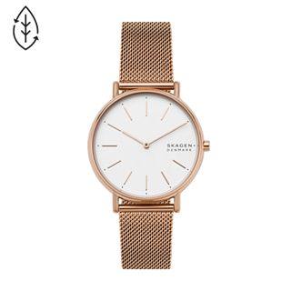 Signatur Rose-Tone Steel-Mesh Watch